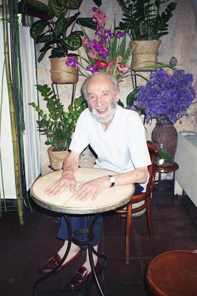 Raimondo Bianchi, founder of the Fioraio Bianchi in Brera, Milan